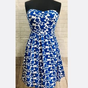 Old Navy Blue Dove Sweetheart Strapless Dress